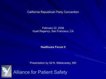 Download Powerpoint Presentation (PDF) - Alliance for Patient Safety