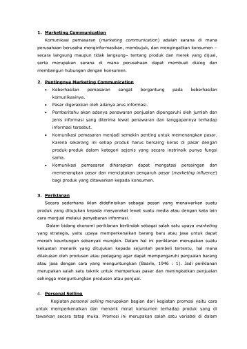 1. Marketing Communication Komunikasi pemasaran (marketing ...