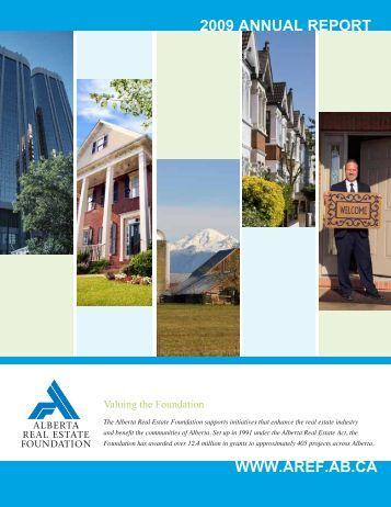 2009 AnnuAl RepoRt - Alberta Real Estate Foundation