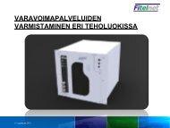palveluiden varmistaminen eri teholuokissa, Esa Kaakinen, Fitelnet Oy