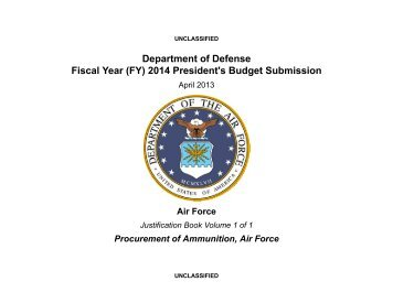 Justification Book - Air Force Financial Management & Comptroller