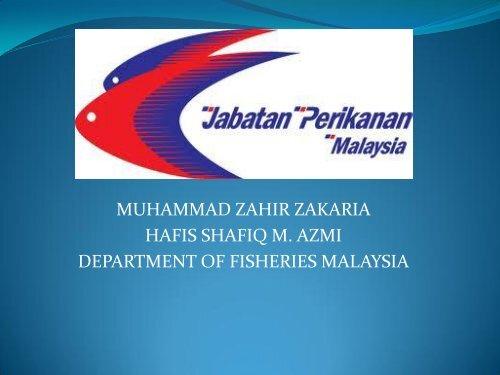 muhammad zahir zakaria hafis shafiq m. azmi ... - seafdec.org.my