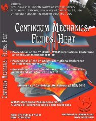 continuum mechanics - Wseas.us