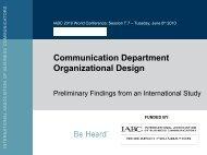 Communication Department Organizational Design - International ...