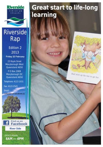 Riverside Rap Great start to life-long learning - Riverside Christian ...