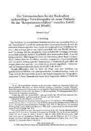 Kooperationsverhältnis - Zeitschrift für ausländisches öffentliches ...