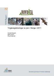 Yngleregistreringer av jerv i Norge i 2011 - NINA Rapport 757