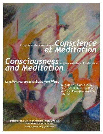 Conscience et Méditation Consciousness and Meditation