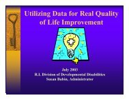 Utilizing Data for Real Quality of Life Improvement - 2012 ...