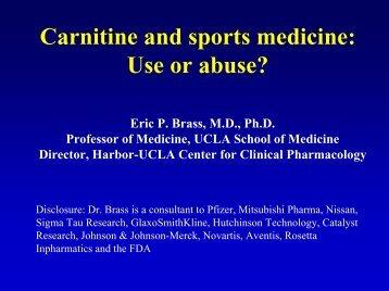 NIH-Carnitine and sports medicine: Use or abuse?