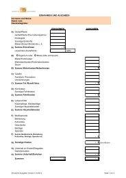 Einnahmen- und Ausgaben - Lauenstein Sozialfonds