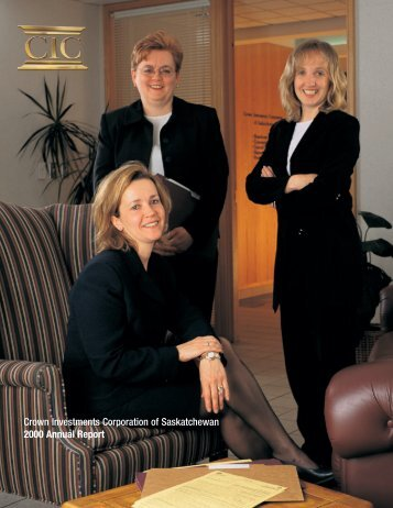 Crown Investments Corporation of Saskatchewan 2000 Annual Report