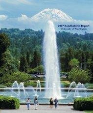 2007 - Finance & Facilities - University of Washington