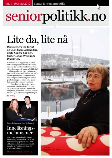 seniorpolitikk.no nr. 1 - 2012 - Senter for seniorpolitikk