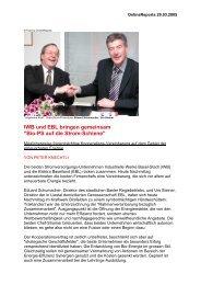 Bio-PS auf die Strom-Schiene OnlineReports 29-03 ... - Steiner, Urs