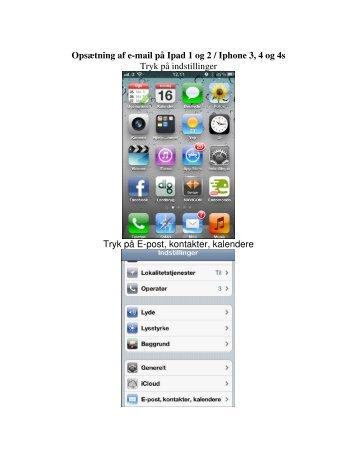 Opsætning af e-mail på Ipad/Iphone - DLG Tele