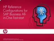 HP solution for SAP Business All-in-One fast-start Program
