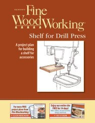 Shelf for Drill Press - Fine Woodworking