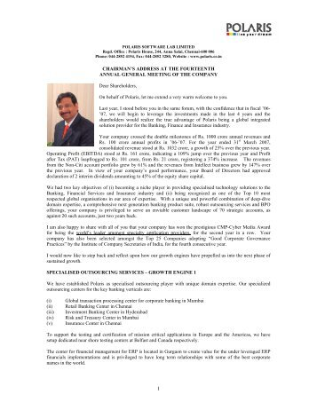 Read more - Polaris Software Labs Ltd.