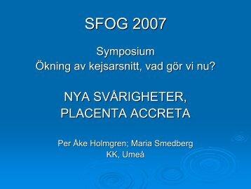 Placenta accreta - SFOG