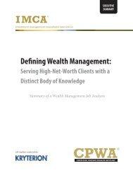 Defining Wealth Management, Serving High-Net-Worth Clients