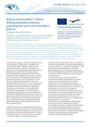 Bildung und Gesundheit - European Council for Steiner Waldorf ...