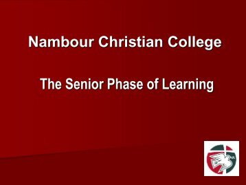 Changes to the Senior School - Nambour Christian College Events