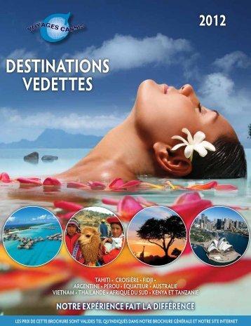 DESTINATIONS VEDETTES - Voyages Cassis