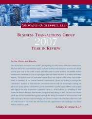 Business Transactions Group Year-in-Review 2007 - Seward and ...
