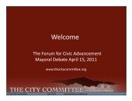 El Pomar Debate 4-15-11 v2-1.pptx - The City Committee