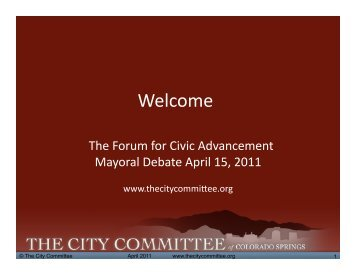 El Pomar Debate 4-15-11 v2-1.pptx - The City Committee