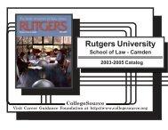 Rutgers University School of Law-Camden - Catalogs - Rutgers, The ...