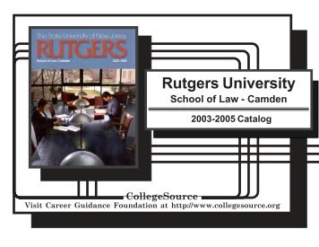 Rutgers University School of Law-Camden - Catalogs - Rutgers, The ...