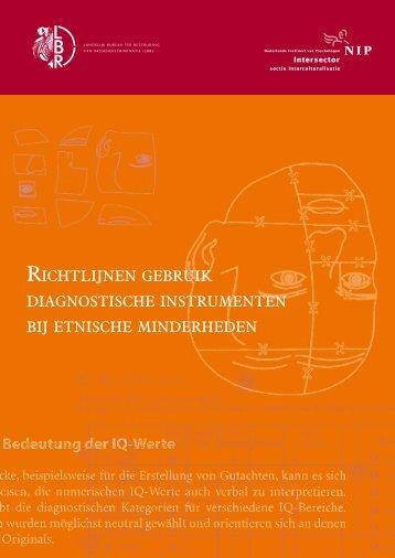 richtlijnen gebruik diagnostische instrumenten bij etnische ... - Art.1