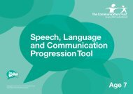 Speech, Language and Communication Progression Tool - The ...