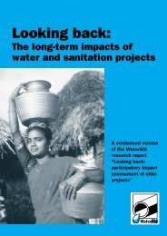 Looking Back: The long term impacts of water and ... - WaterAid