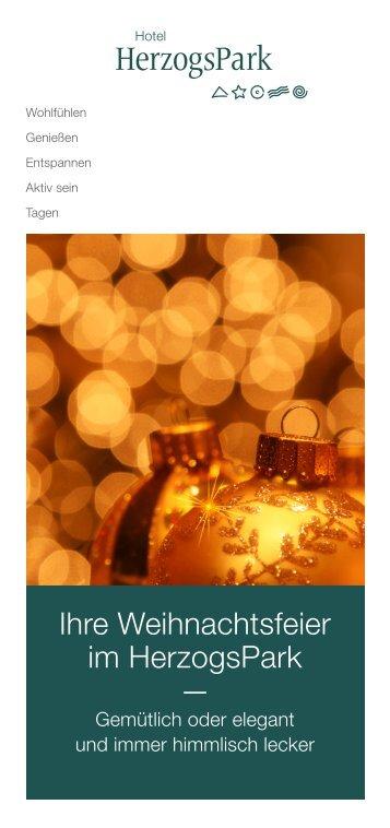 Ihre Weihnachtsfeier im HerzogsPark —