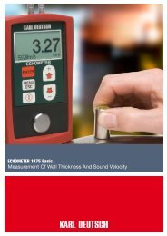 ECHOMETER 1075 Basic Measurement Of Wall Thickness And ...