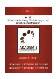 Nr. 13 Selbstverantwortung, Veränderungs - Akademie für ...