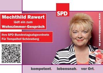 """""""Wohnzimmer-Gespräch""""-Einladungskarte - Mechthild Rawert"""