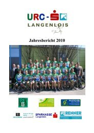 Jahresbericht 2010 (ohne Presseberichte) – 2 MB - URC Langenlois