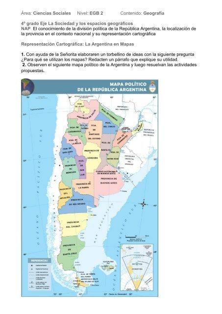 Secuencia Didactica Para 4to Grado La Argentina Tramixsakai Ulp