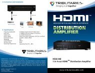 HDA140 - Tributaries Cable