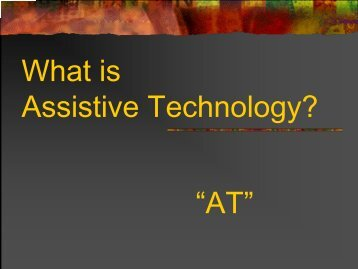 What is Assistive Technology? - Crosby ISD