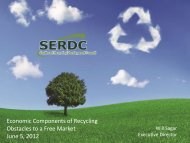 Economic Components of Recycling Obstacles to a Free Market ...
