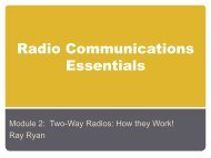 Radio Communications Essentials - Homelandplanning.nebraska.edu