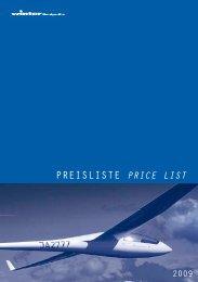Preisliste Price list - Winter Bordgeräte