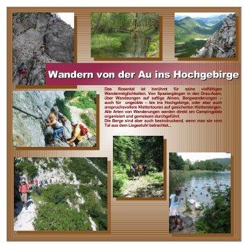 Wandern von der Au ins Hochgebirge - Camping Rosental Roz