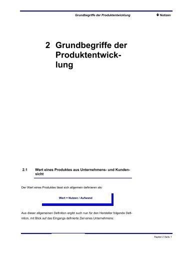 2 Grundbegriffe der Produktentwick- lung