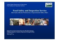 Food Safety and Inspection Service - Digital Government Institute